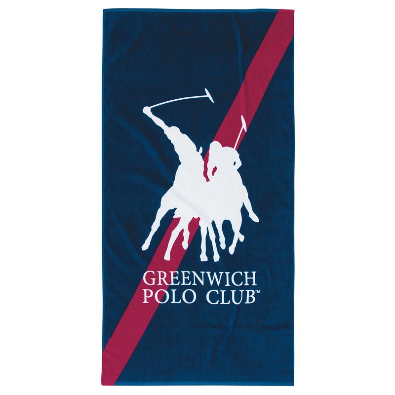 Πετσέτα Θαλάσσης 80X160 Greenwich Polo Club Essential 3513 Μπλε