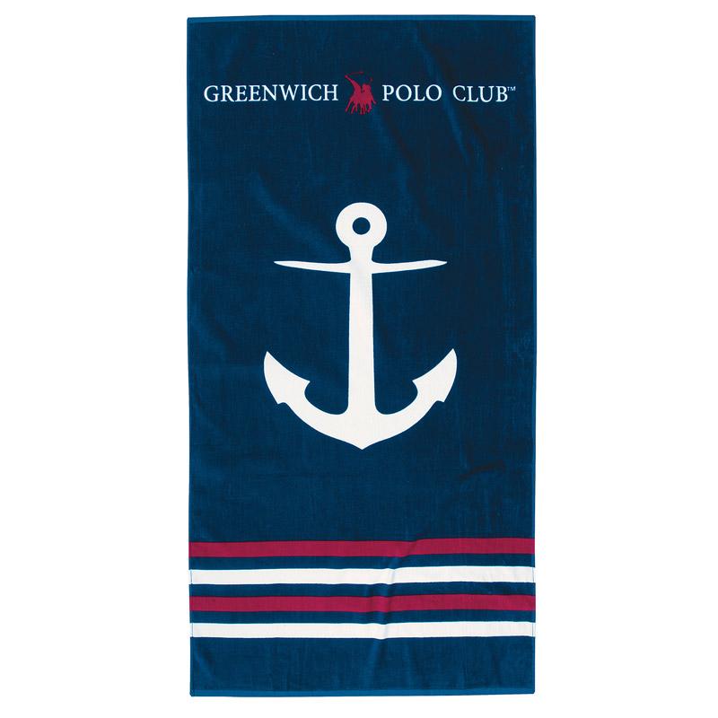 Πετσέτα Θαλάσσης 80X160 Greenwich Polo Club Essential 3515 Μπλε