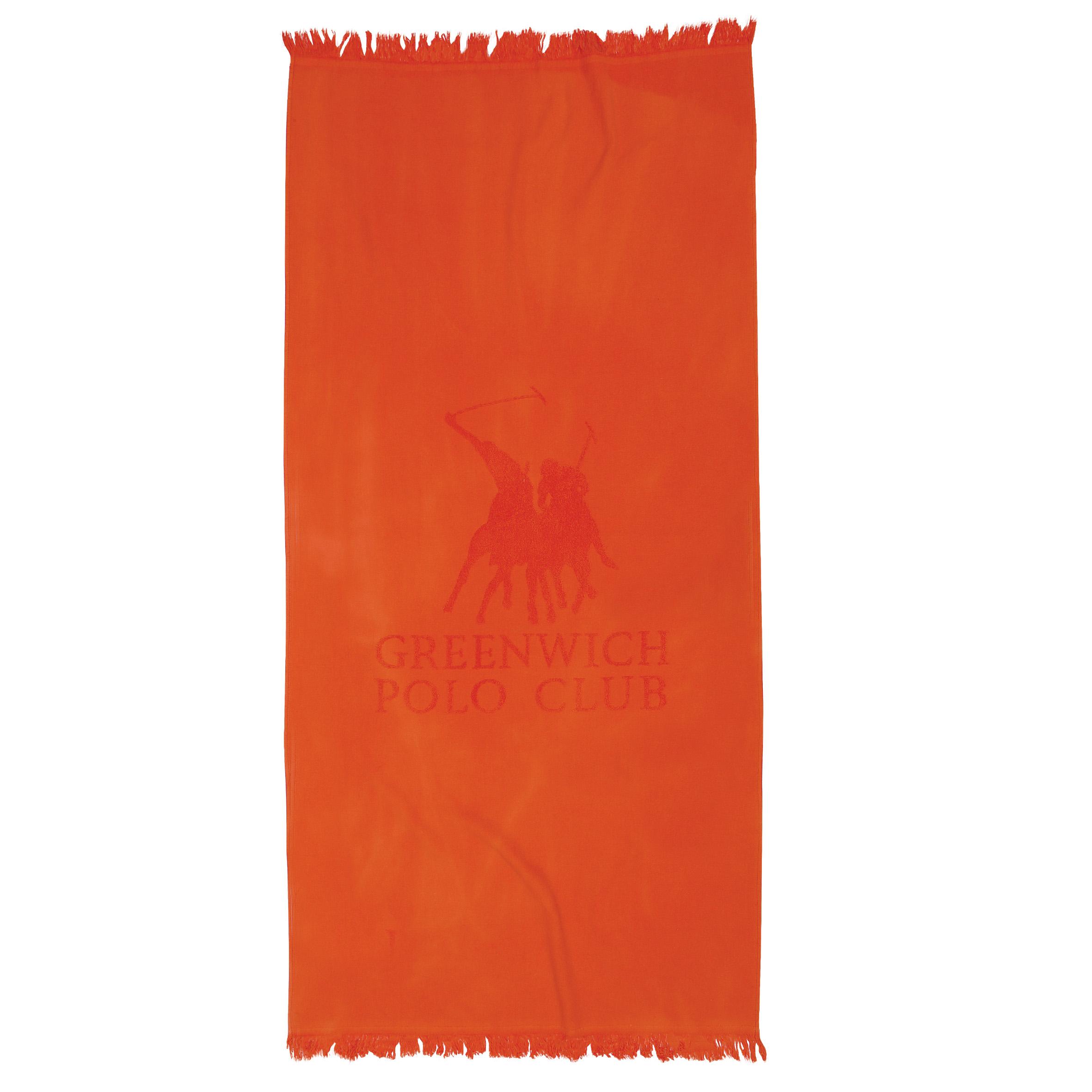 Πετσέτα Θαλάσσης 80×170 Greenwich Polo Club Essential 2827 Πορτοκαλι