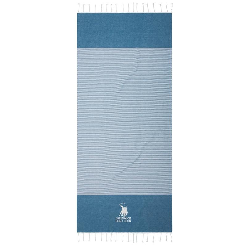 Πετσέτα Θαλάσσης 80X180 Greenwich Polo Club Essential 3534 Μπλε
