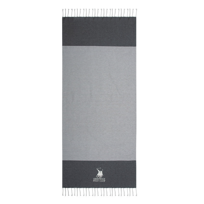 Πετσέτα Θαλάσσης 80X180 Greenwich Polo Club Essential 3535 Μαύρο