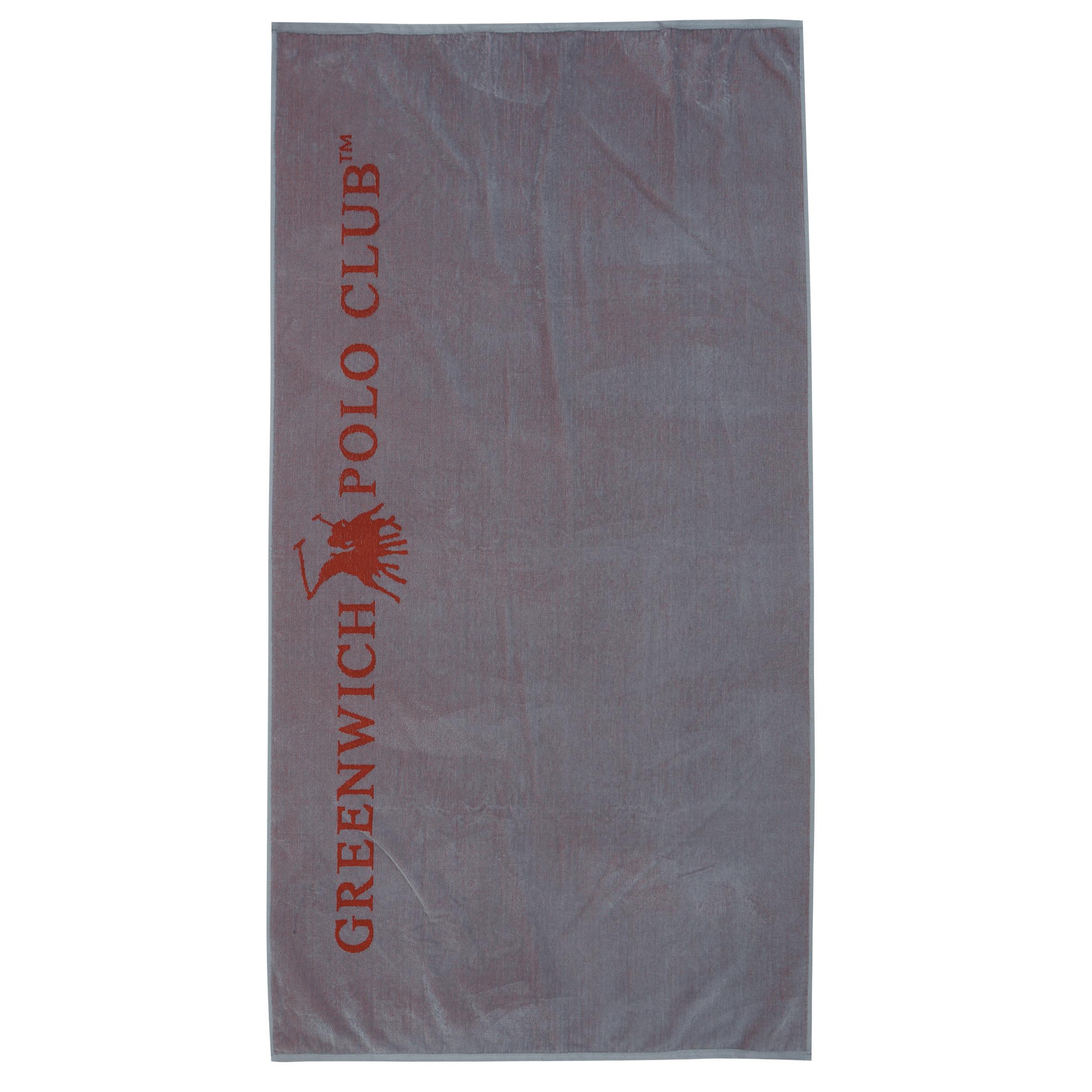 Πετσέτα Θαλάσσης 90×170 Greenwich Polo Club Essential 2806 Γκρι-Κοκκινο