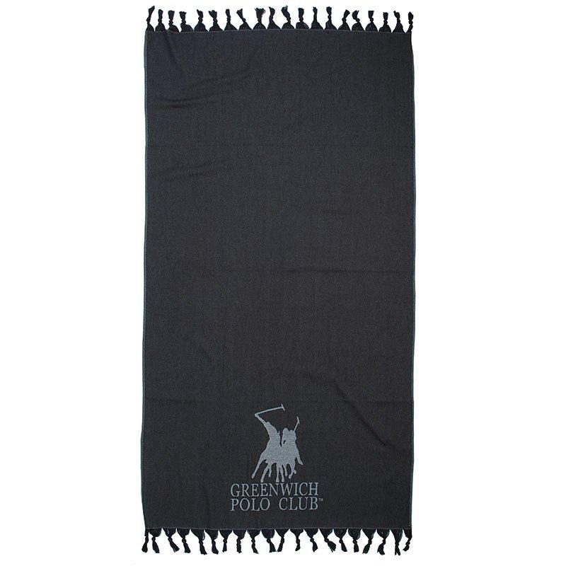 Πετσέτα Θαλάσσης 90×170 Greenwich Polo Club Essential 2842 Μαυρο