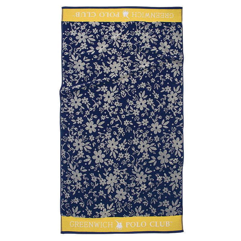 Πετσέτα Θαλάσσης 90×170 Greenwich Polo Club Essential 2852 Μπλε-Ωχρα