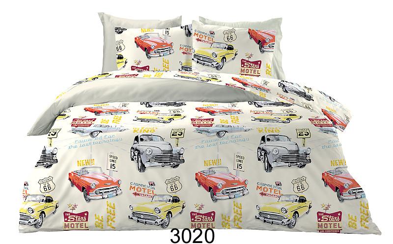 Σεντόνια Μονά (Σετ) White Cars 3020