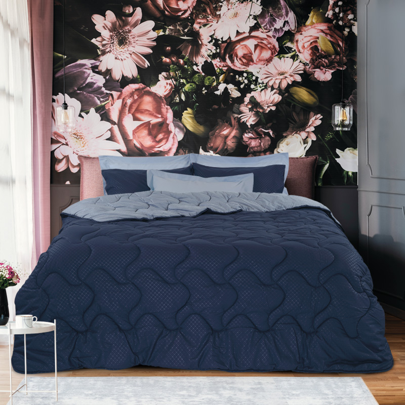 Σεντόνια+Πάπλωμα Μονό 160×240 Das Home Colour Best 4689 Μπλε
