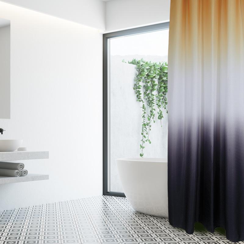 Κουρτίνα Μπάνιου 180×240 Das Home Bath Curtains 1078 Κιτρινο-Λευκο-Γκρι
