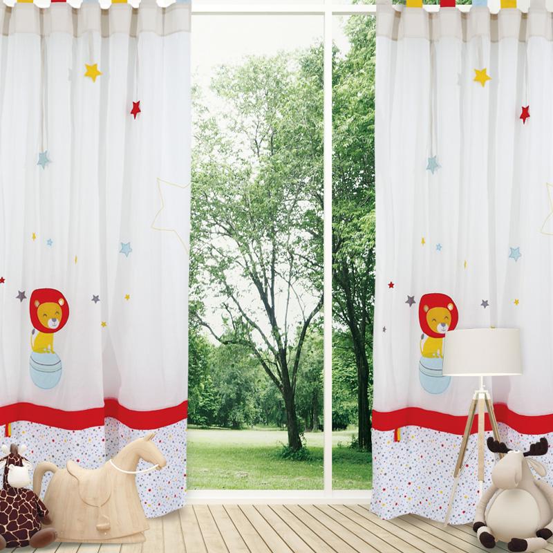 Κουρτίνα Με Θηλιές 140×260 Das Home Curtain 2125 Εκρου-Κοκκινο-Κιτρινο