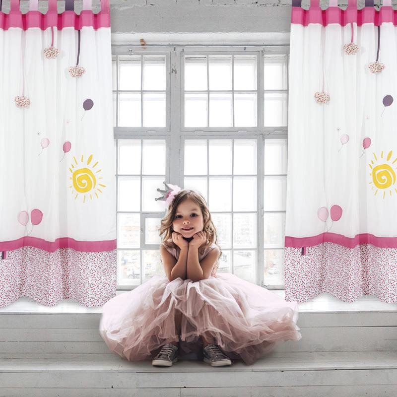Κουρτίνα Με Θηλιές 140×260 Das Home Curtain 2127 Εκρου-Ροζ-Κιτρινο
