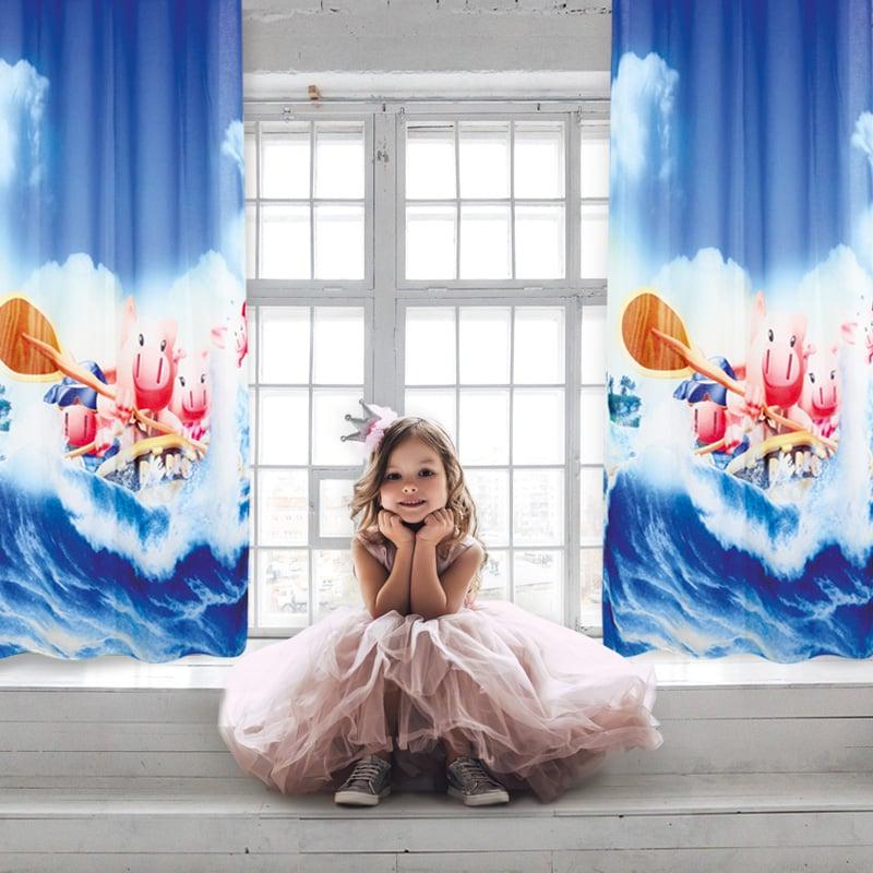 Κουρτίνα Με Τρουκς 140×280 Das Home Curtain 2122 Μπλε-Σιελ-Σομων