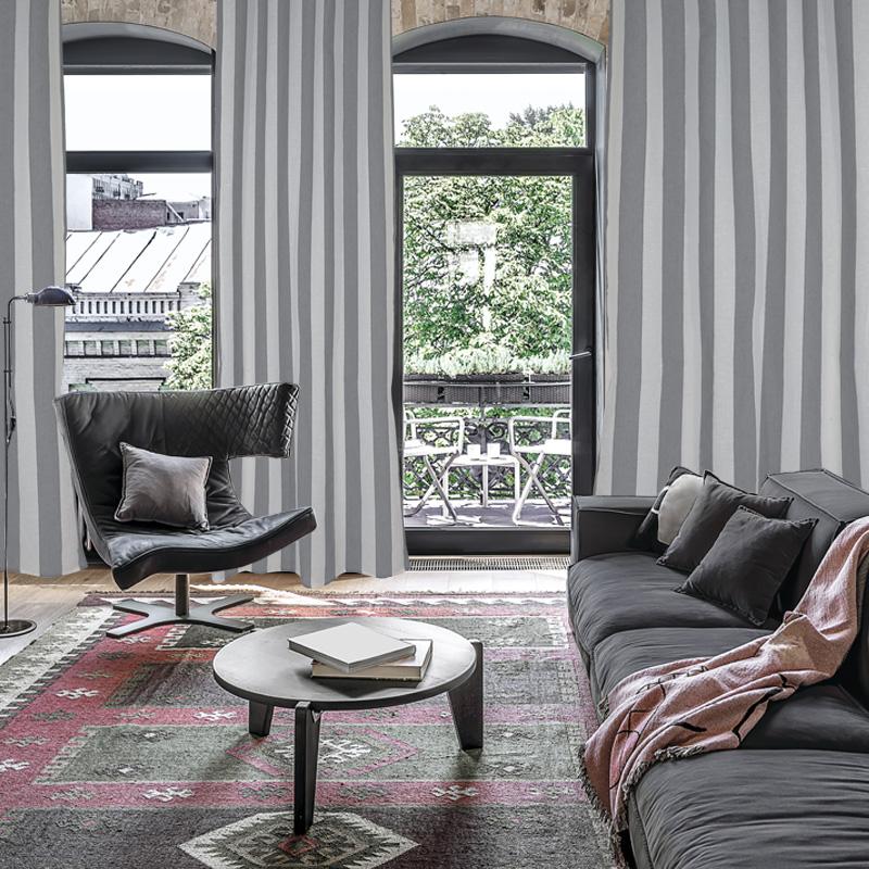 Κουρτίνα Με Τρουκς 140×280 Das Home Curtain 2155 Λευκο-Γκρι