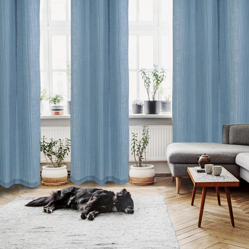 Κουρτίνα Με Τρουκς 300×280 Das Home Curtain 2136 Σιελ