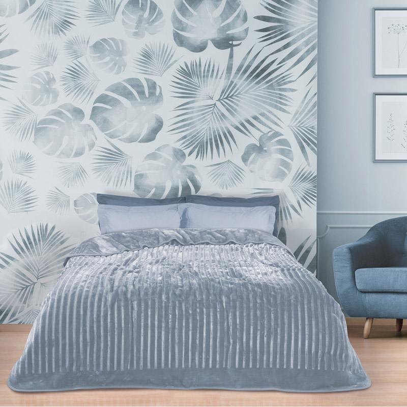 Κουβέρτα Βελουτέ Μονή 160X240 Das Home Blankets Winter 0448