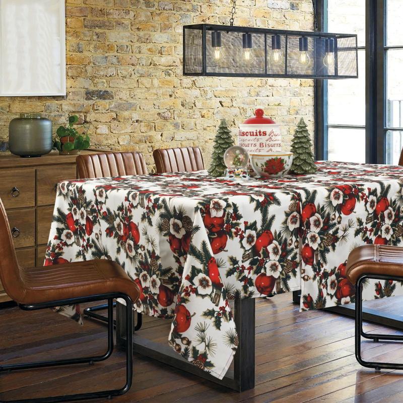 Χριστουγεννιάτικο Τραπεζομάντηλο 140x180 Das Home Christmas 0569 Κοκκινο-Πρασινο (140x180)