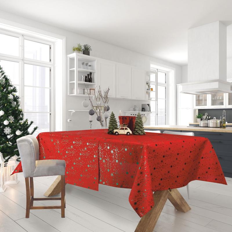 Χριστουγεννιάτικο Τραπεζομάντηλο 140×220 Das Home Christmas 0574 Κοκκινο-Πρασινο