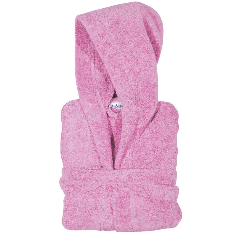 Μπουρνούζι Με Κουκούλα 8 Das Home Soft Casual 1468 Ροζ