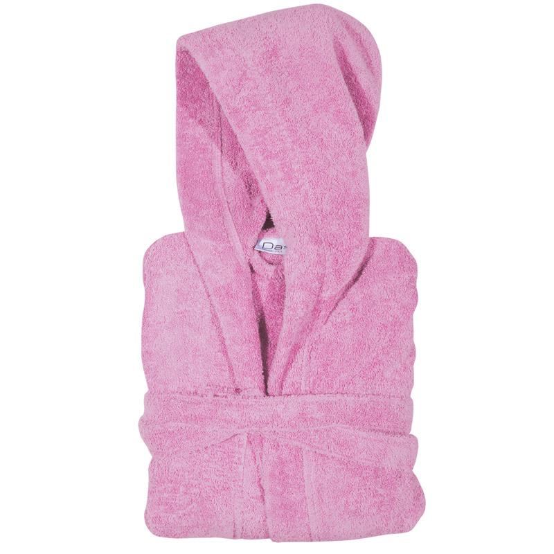 Μπουρνούζι Με Κουκούλα 10 Das Home Soft Casual 1468 Ροζ