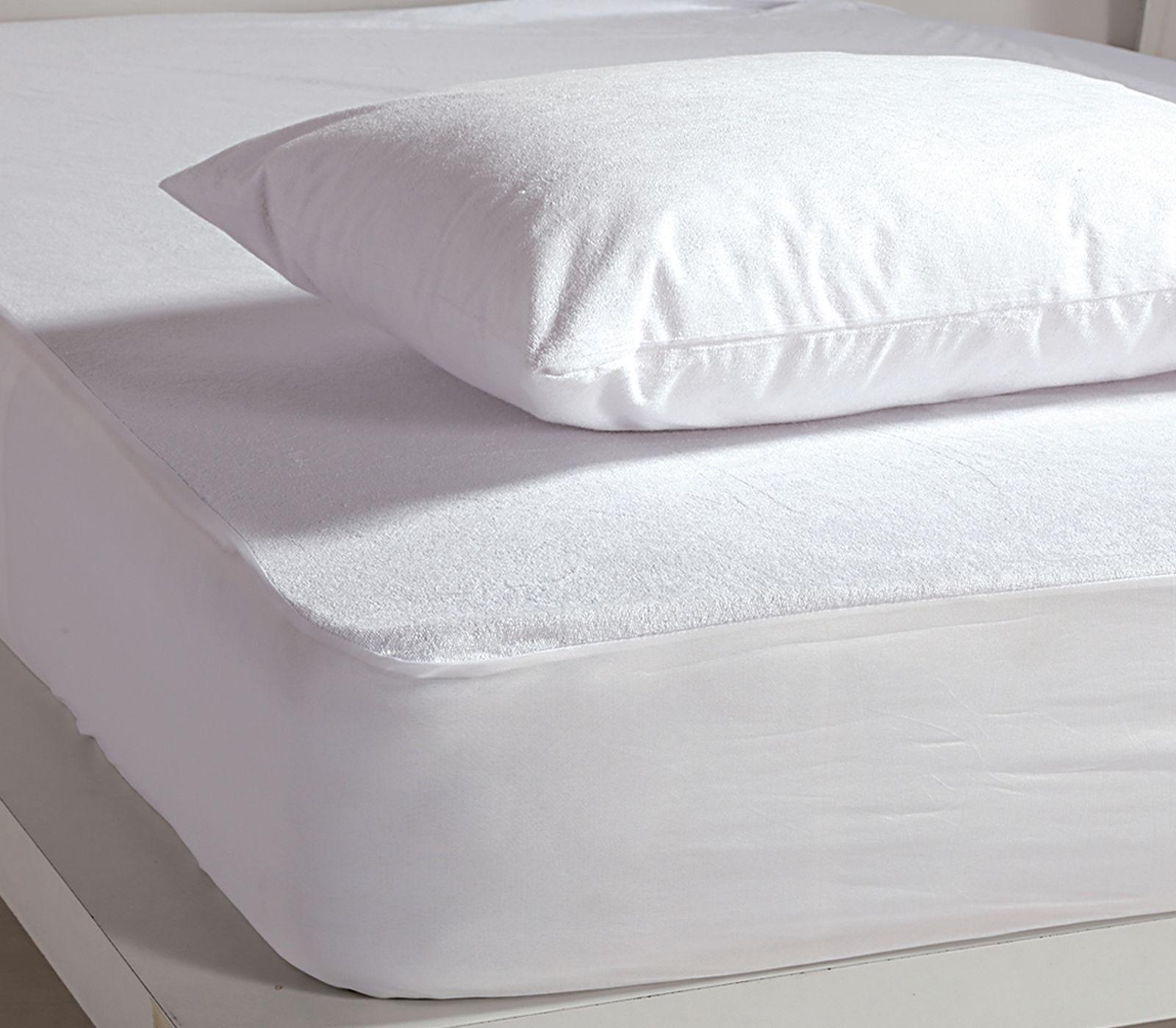 Αδιάβροχο Επίστρωμα King Size 180×200+30 Nef Nef White Linen Pu Λευκό