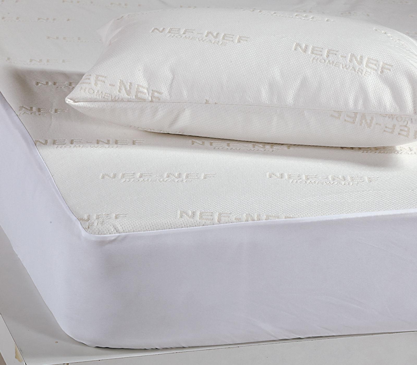 Αδιάβροχο Επίστρωμα King Size 180×200+30 Nef Nef White Linen Ζακαρ/Pu Λευκό