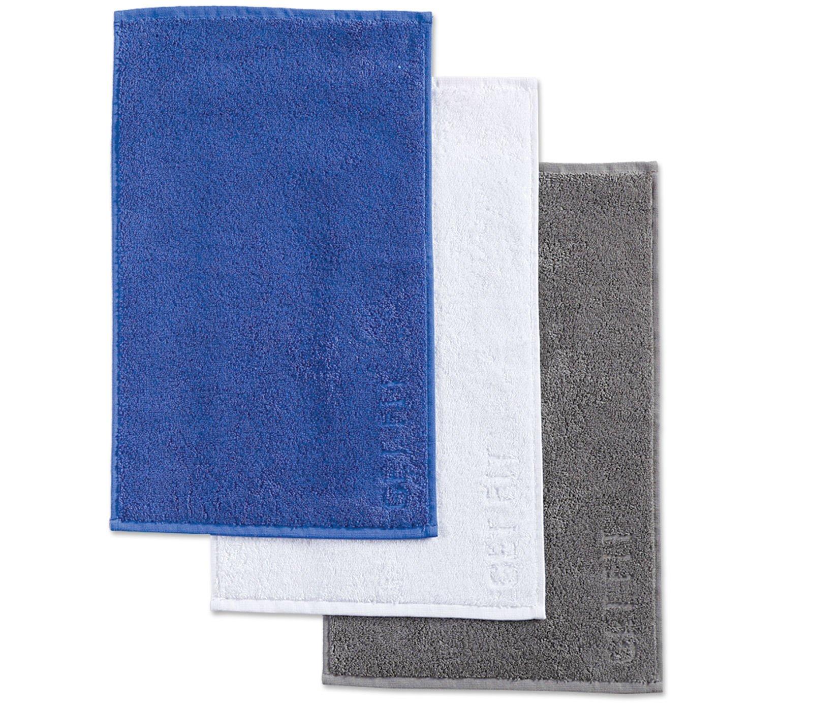 Πετσέτες Χεριών (Σετ 3 Τμχ) 30×50 Nef Nef Γυμναστηριου Gym Grey/Blue/White