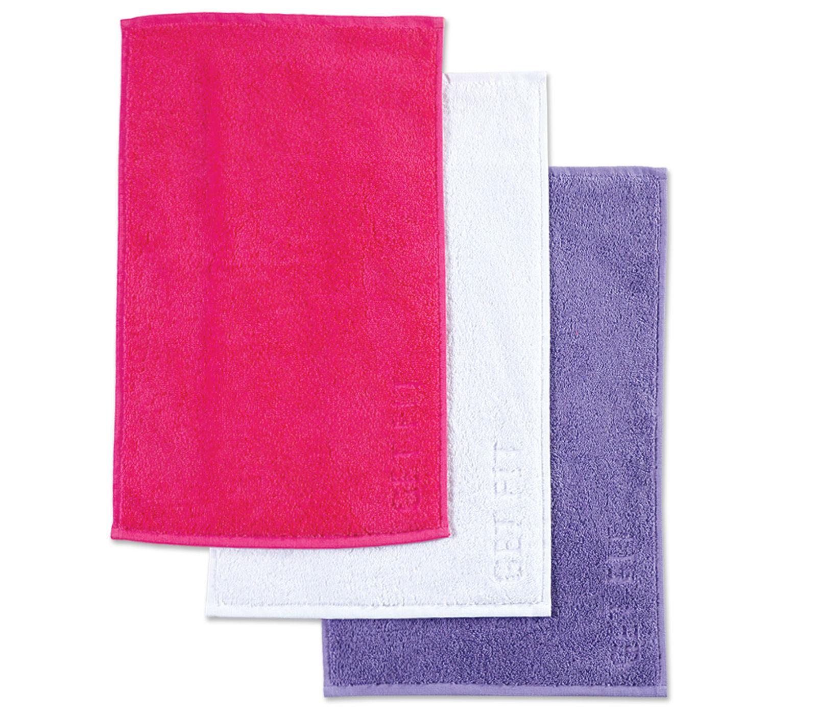 Πετσέτες Χεριών (Σετ 3 Τμχ) 30×50 Nef Nef Γυμναστηριου Gym Purple/Fuchsia/Wwhite