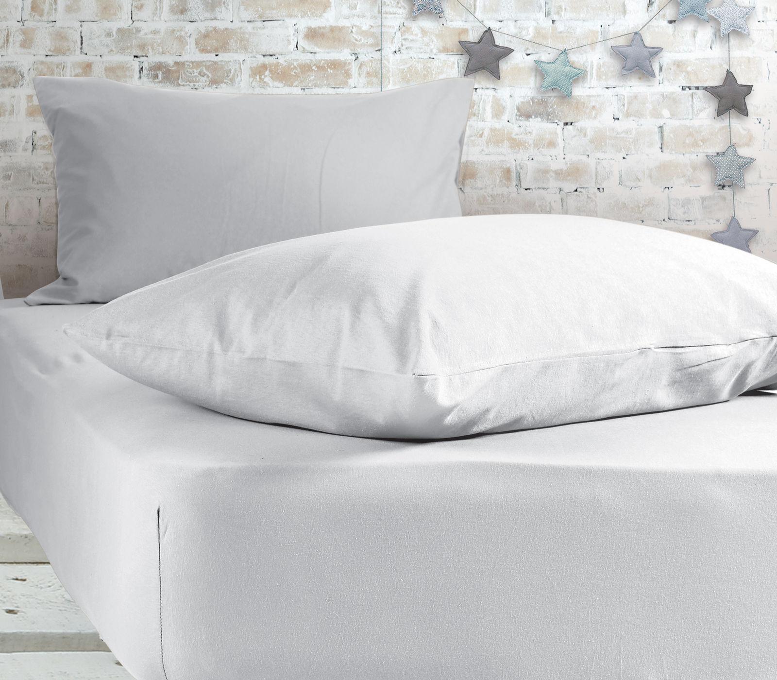 Σεντόνι Μεμονωμένο Υπέρδιπλο 160×200+30 Nef Nef Jersey 200-White Με λάστιχο