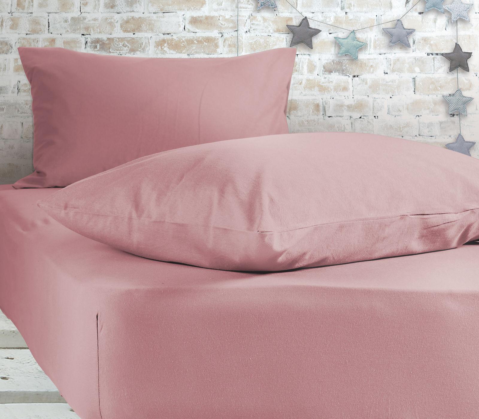 Σεντόνι Μεμονωμένο Μονό 100×200+30 Nef Nef Jersey 1018-Pink Με λάστιχο