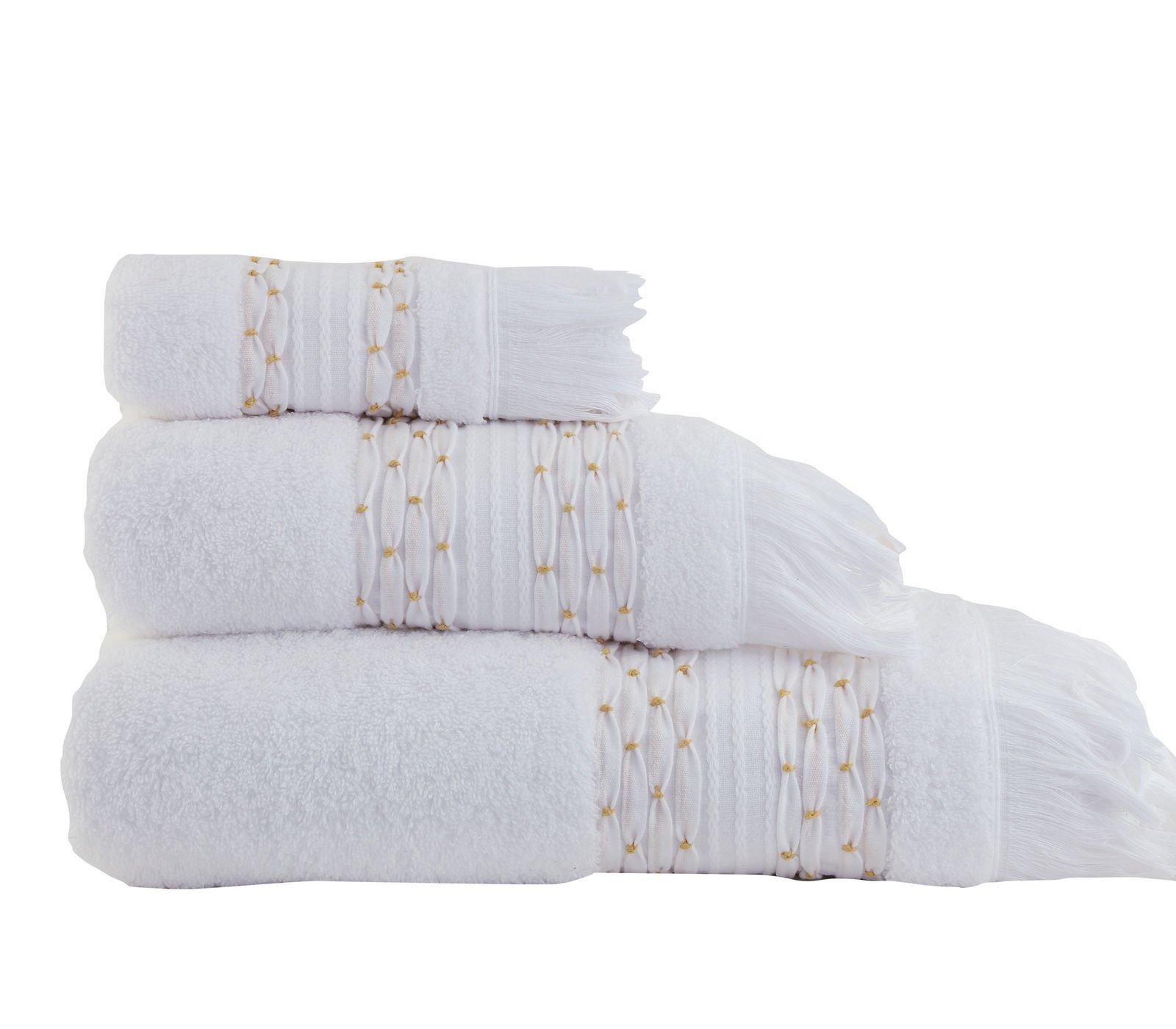 Πετσέτες Μπάνιου (Σετ 3 Τμχ) Nef Nef Kenthth Jilian Λευκό