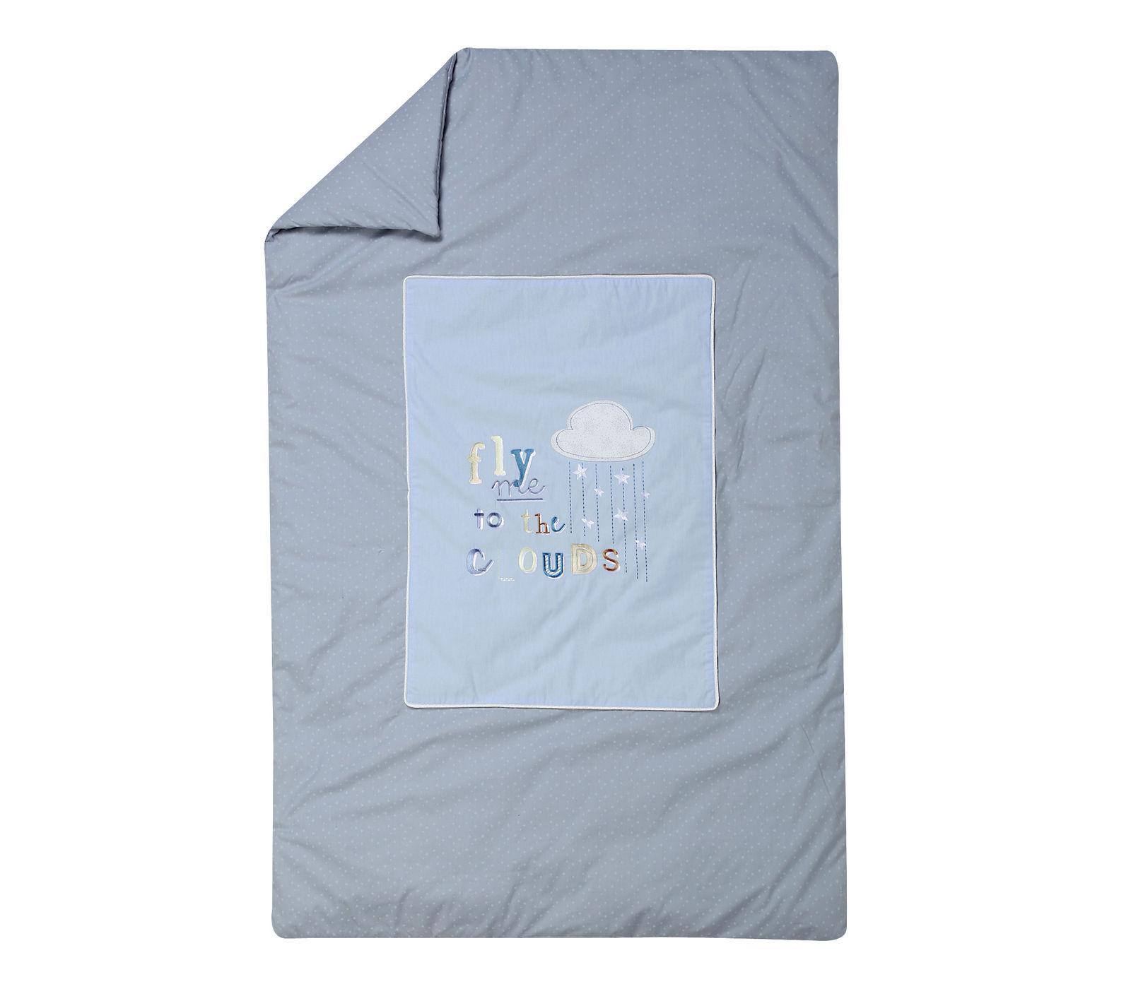 Κουβερλί 90×140 Nef Nef Kenthth Clouds Γαλάζιο