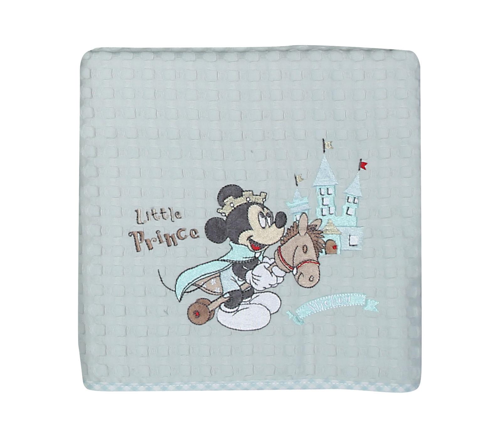 Κουβέρτα Πικέ Λίκνου 80×110 Nef Nef Mickey Prince Γαλάζιο