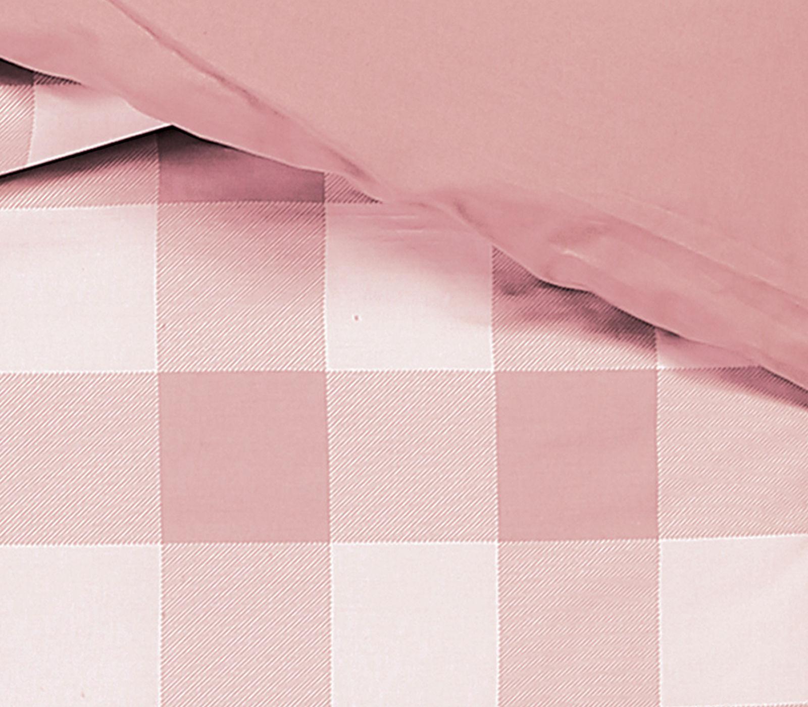 Παπλωματοθήκη Μονή Nef Nef Basic Plaid 1011-Pink