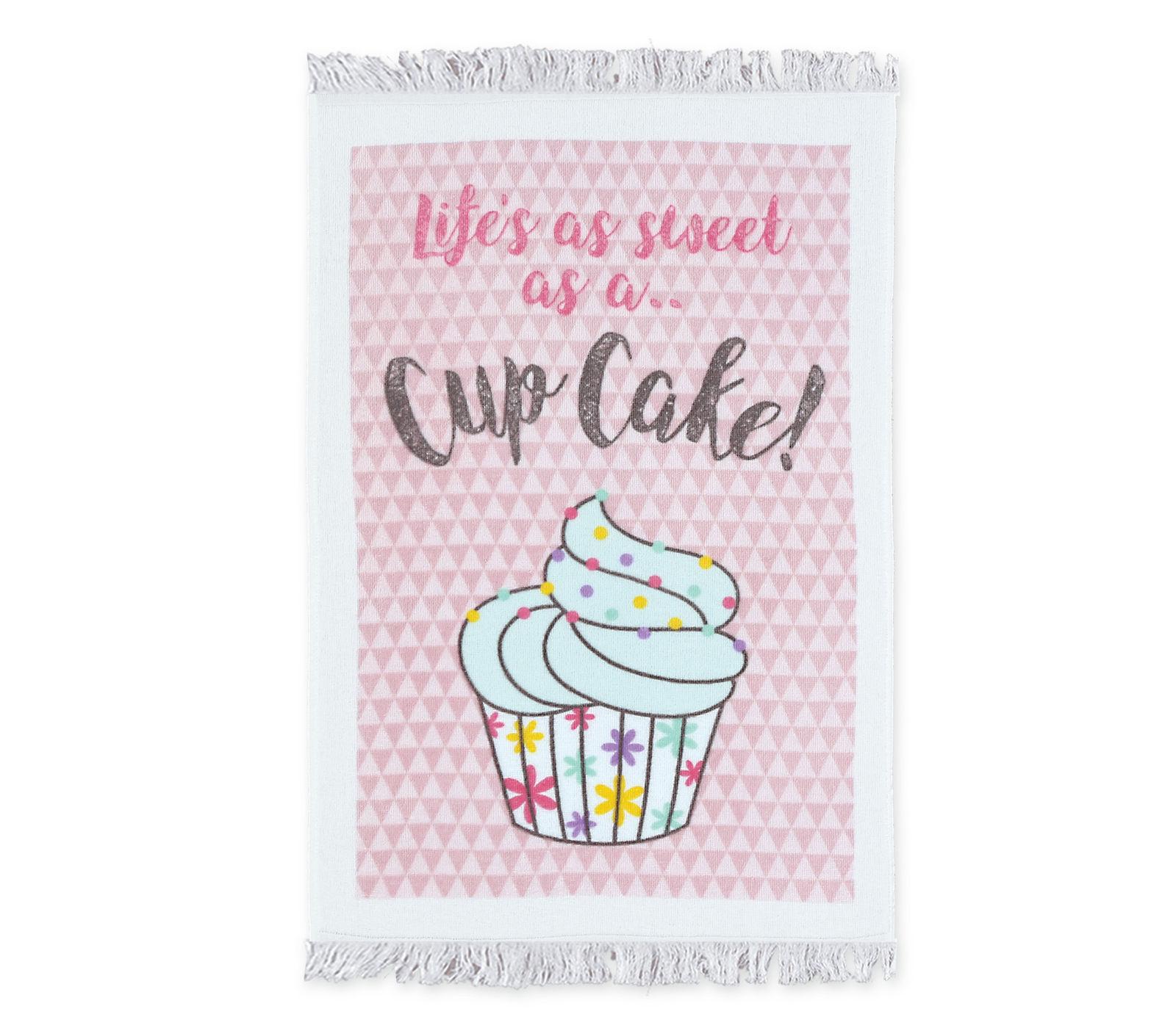 Ποτηρόπανο 40×60 Τυπωτό Βελουτέ Nef Nef Cup Cake Pink