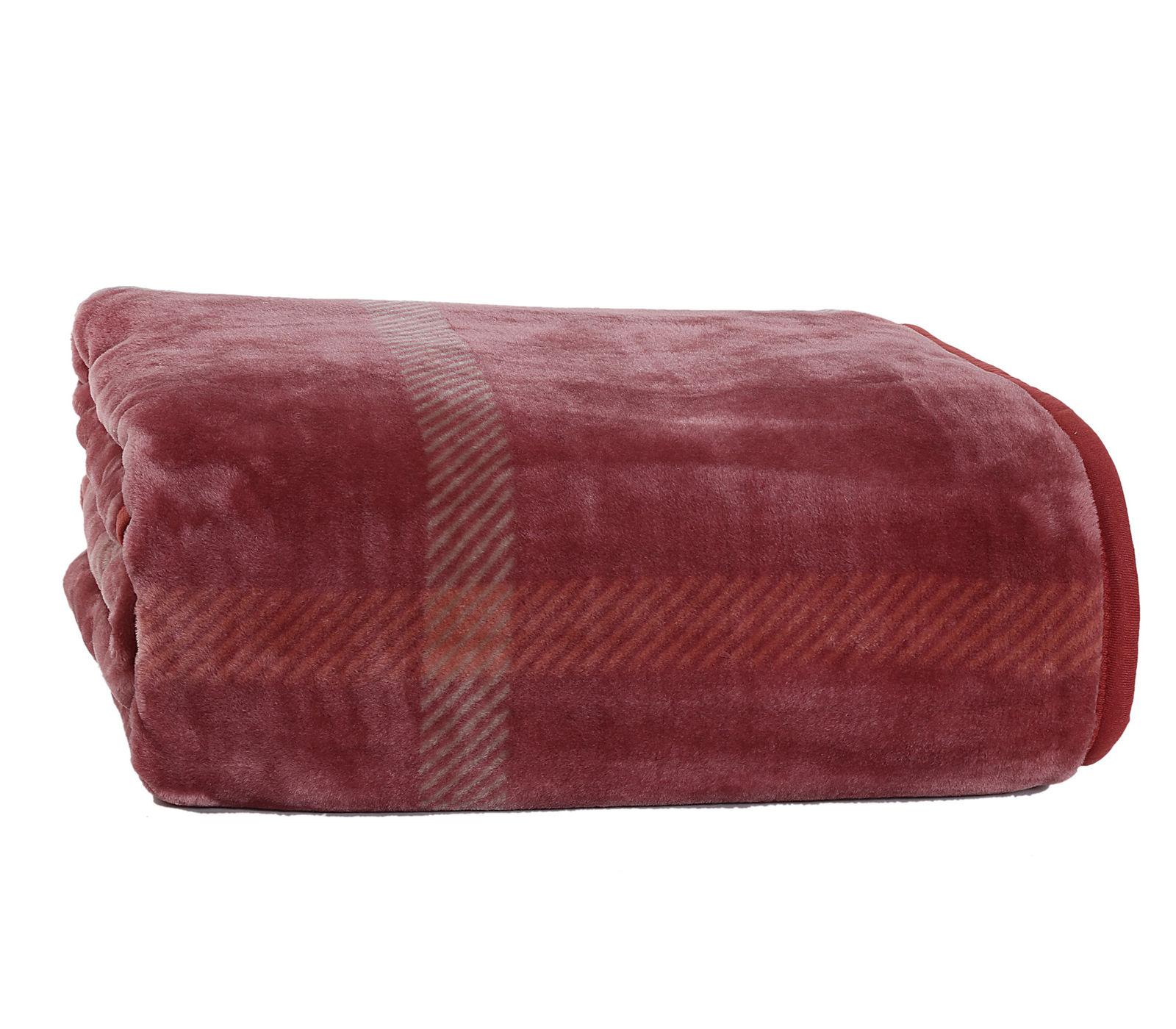 Κουβέρτα Υπέρδιπλη 220×240 Nef Nef Βελουτέ Berry Bordo