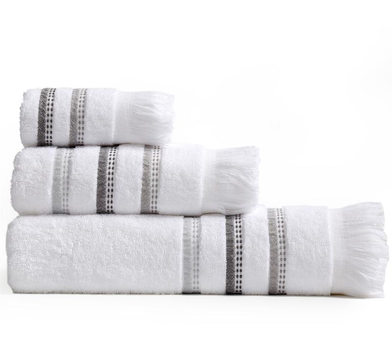 Πετσέτες Μπάνιου (Σετ 3 Τμχ) Limit Nef Nef White