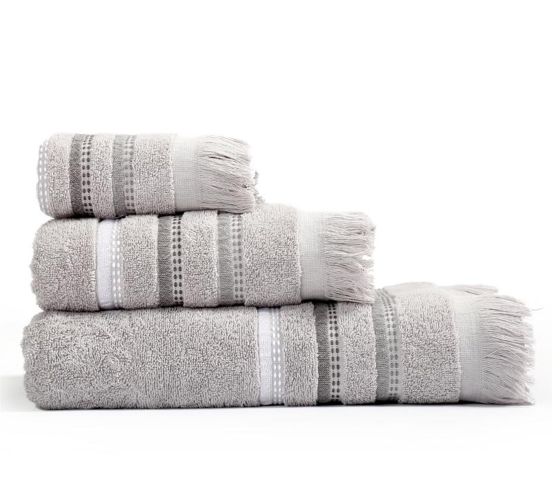 Πετσέτες Μπάνιου (Σετ 3 Τμχ) Limit Nef Nef Grey