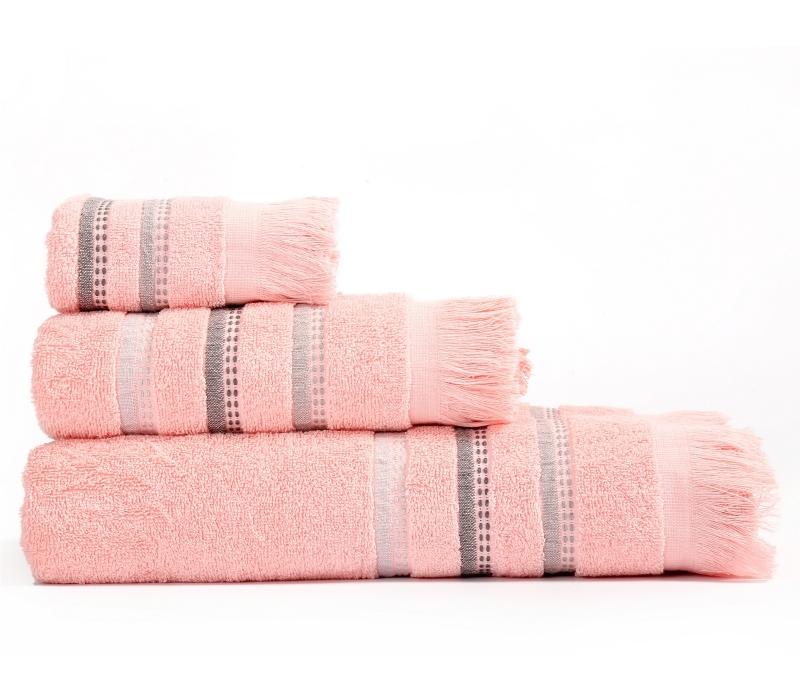 Πετσέτες Μπάνιου (Σετ 3 Τμχ) Limit Nef Nef Pink
