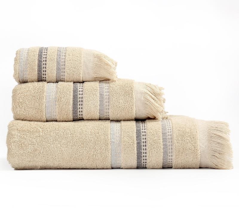 Πετσέτες Μπάνιου (Σετ 3 Τμχ) Limit Nef Nef Beige