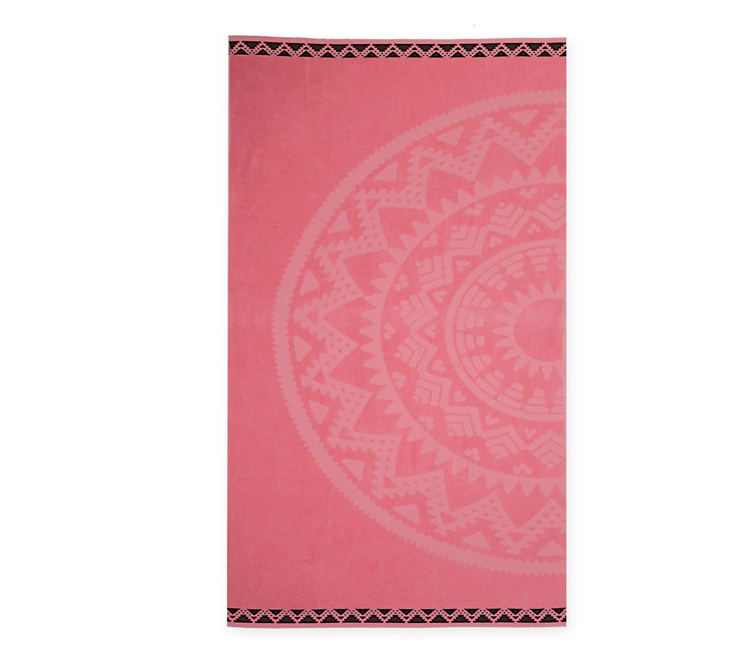 Πετσέτα Θαλάσσης 80×160 Nef Nef Ζακαρ Μπορντουρα Abey Pink
