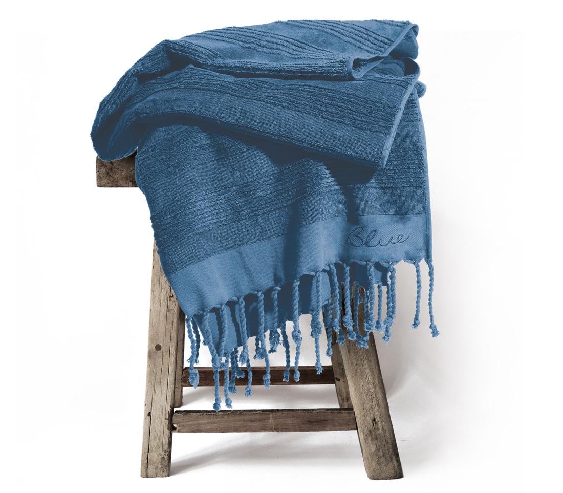 Πετσετα Θαλασσης Παρεο Κροσι 90×170 Nef Nef Blue Belinda Μπλε