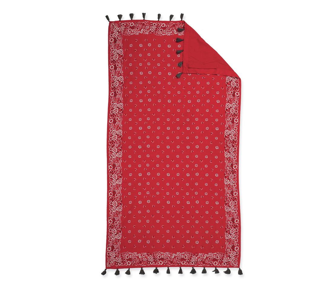 Πετσετα Θαλασσης Παρεο Κροσι 90×170 Nef Nef Τυπωτη Bandana Red