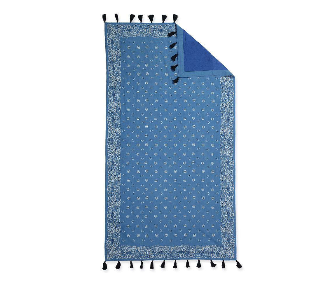 Πετσετα Θαλασσης Παρεο Κροσι 90×170 Nef Nef Τυπωτη Bandana Blue