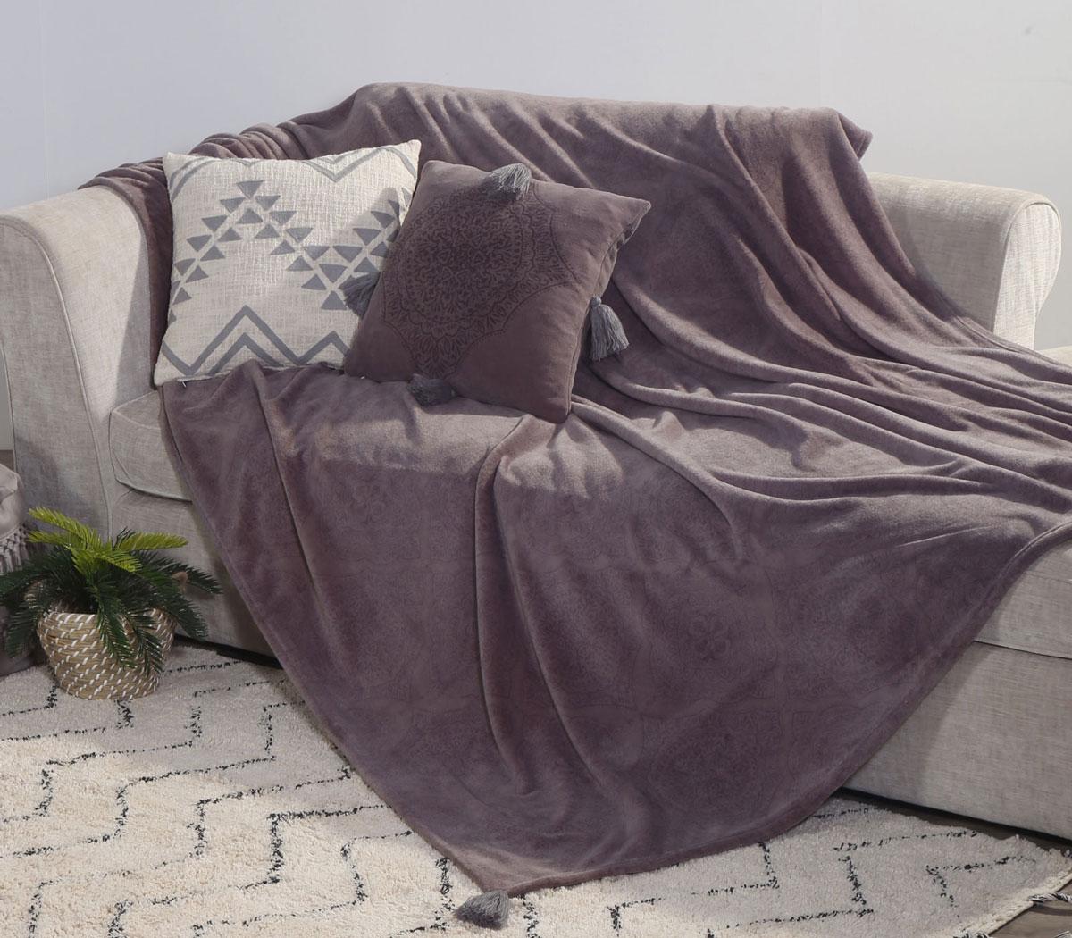 Ριχτάρι Διθέσιου 180×250 Nef Nef Fleece Ava Grey