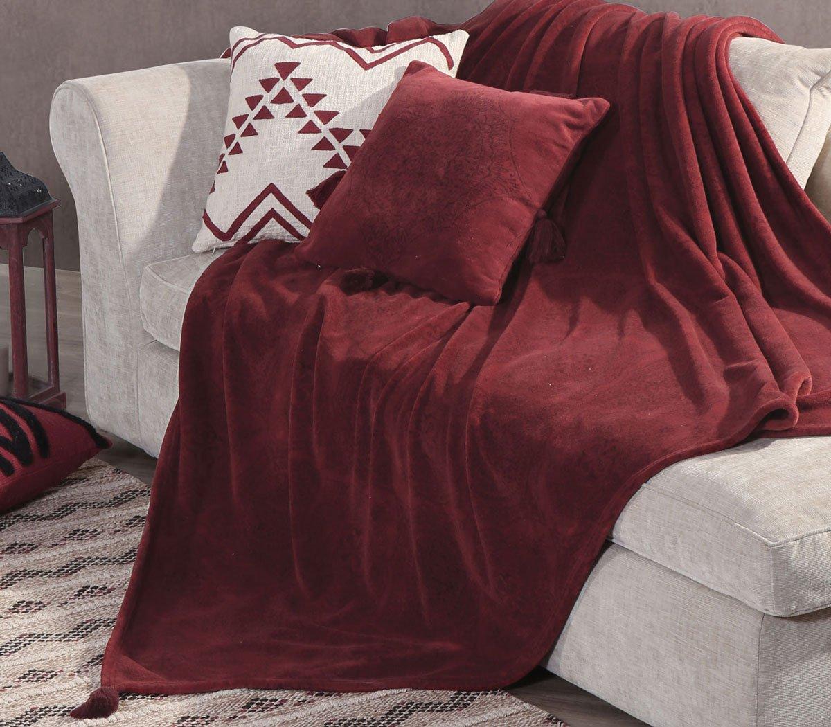 Ριχτάρι Διθέσιου 180×250 Nef Nef Fleece Ava Bordo