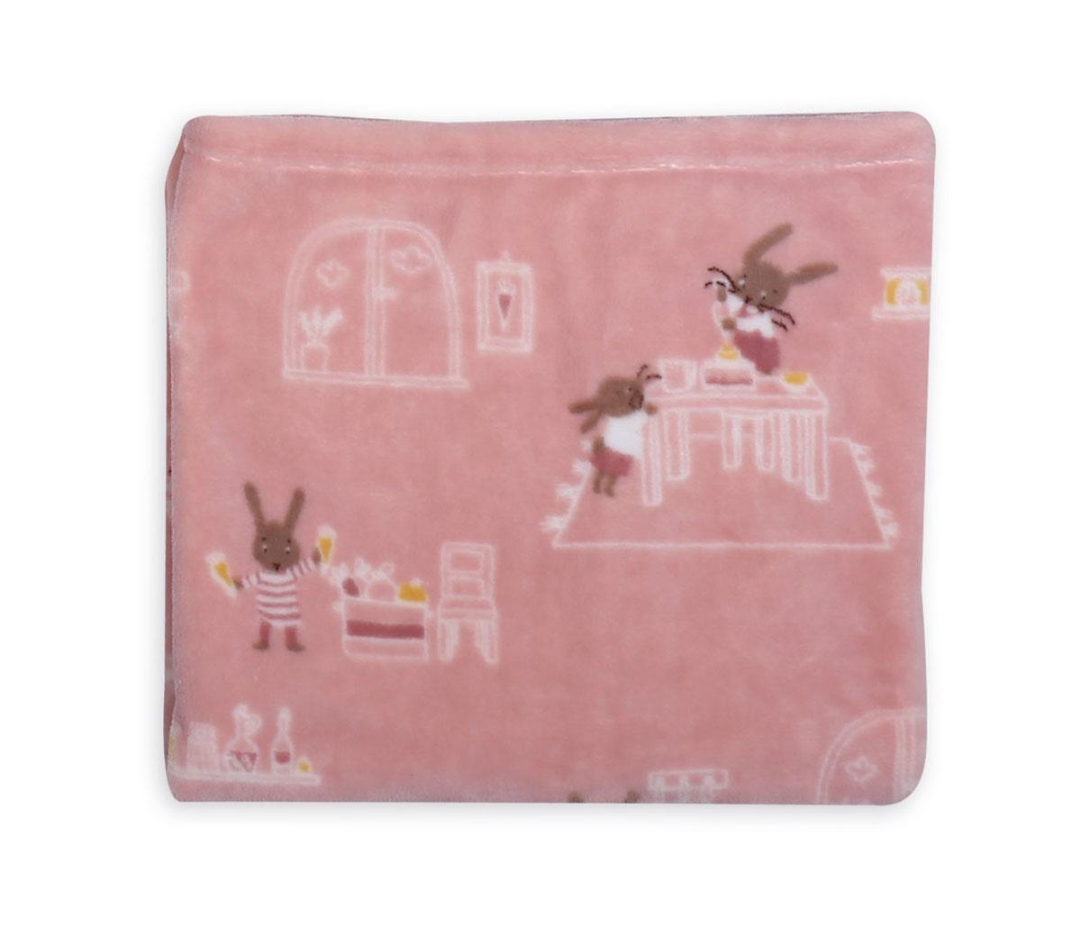 Κουβέρτα Fleece Κούνιας 110×140 Nef Nef Fleece Rabbit In The House