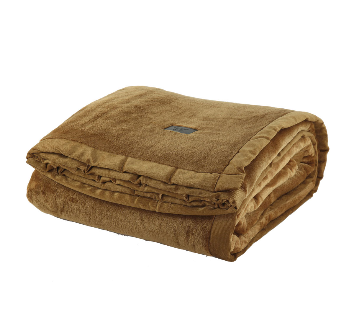 Κουβέρτα Βελουτέ Υπέρδιπλη 230×240 Nef Nef Elements Velosso Ochre