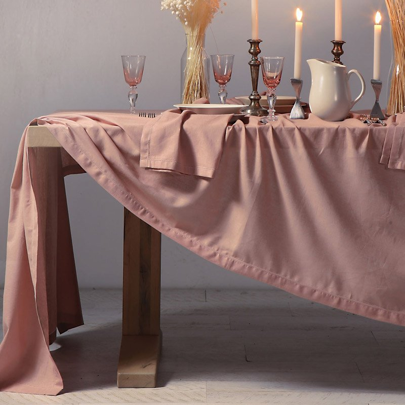 Τραπεζομάντηλο 150x250 Nef Nef Cotton-Linen Eng. Rose (150x250)