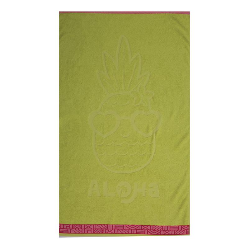 Παιδική Πετσέτα Θαλάσσης 70×120 Nef Nef Pineapple Dream Lime