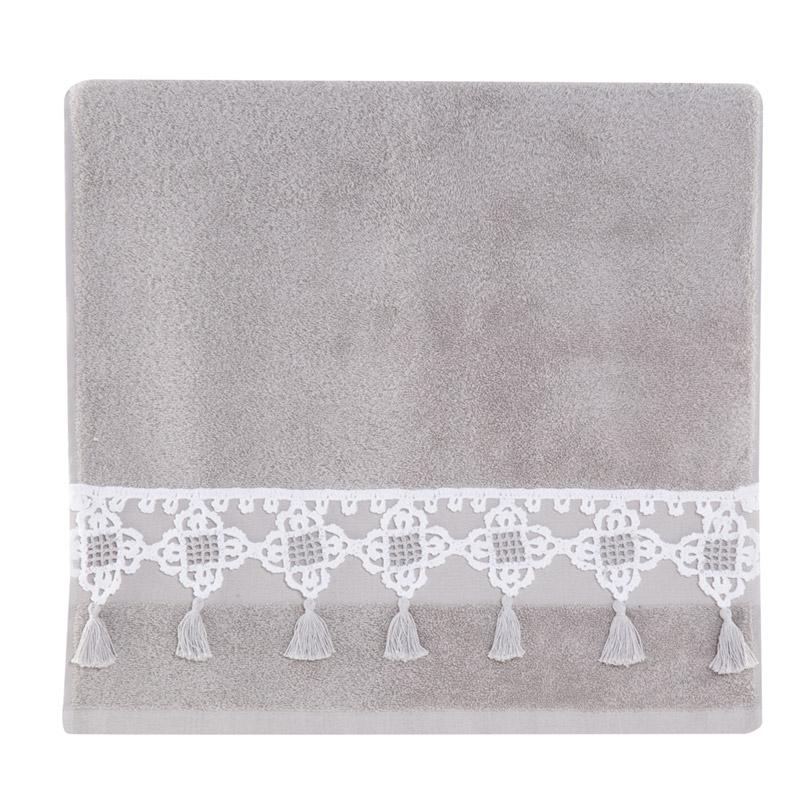 Πετσέτες Μπάνιου (Σετ 3 Τμχ) Nef Nef Julieta Grey