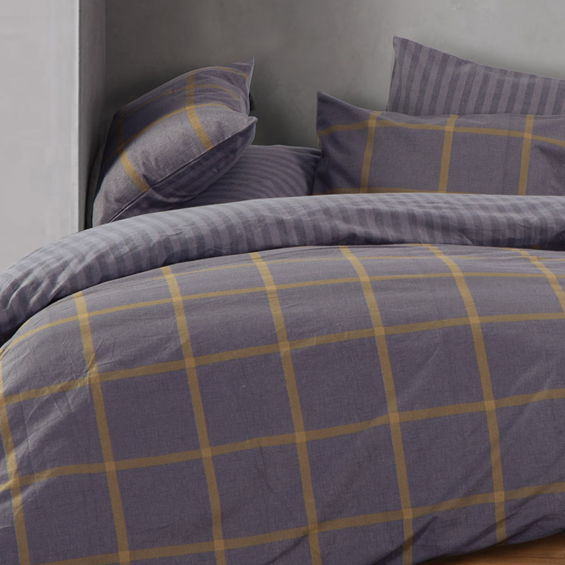 Σεντόνια Φανελένια Υπέρδιπλα (Σετ) 240×260 Nef Nef Flannel Walace Grey Χωρίς Λάστιχο