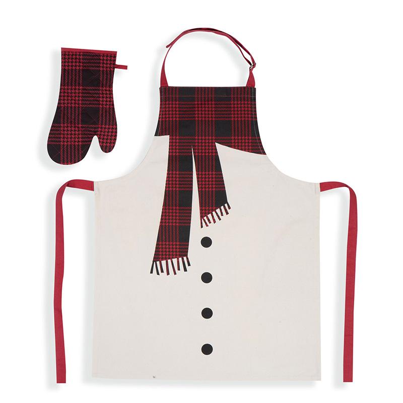 Χριστουγεννιάτικο Σετ Κουζίνας (2 Τμχ) Nef Nef Scurf Grey/Red